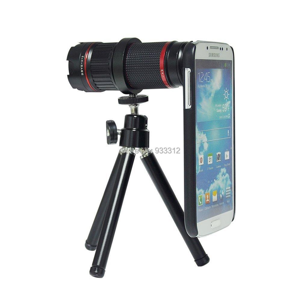 4-12x Telephoto Lens+ Aluminum Mini Tripod for Samsung Galaxy Note3 NOTE4 S5 S6 D