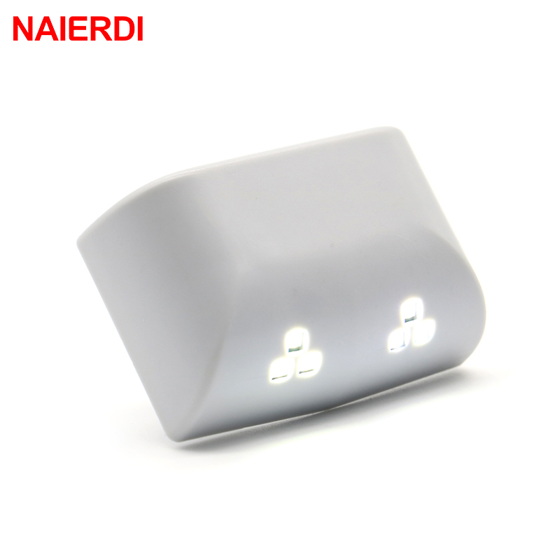 NAIERDI Universal 0.25W Inner Hinge Double LED Sensor Light System For Kitchen Bedroom Living Room Cabinet Cupboard Wardrobe(China (Mainland))