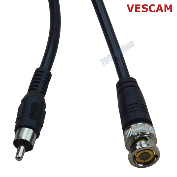 10pcs/ lot 1m (3ft) rca Male Cable to bnc Male cord for cctv camera and dvr system BNC to RCA connection cable with good quality
