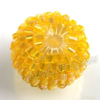Free Shipping 45pcs/lot Yellow Acrylic Beads Tube Glass Seed Beads Fit Handcraft DIY 20mm 110359+