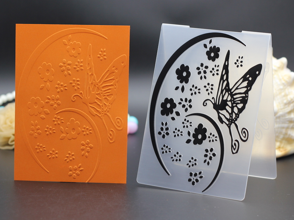 10.5x15cm plastic embossing folders for DIY scrapbook envelop album frame decoration butterfly flowers template