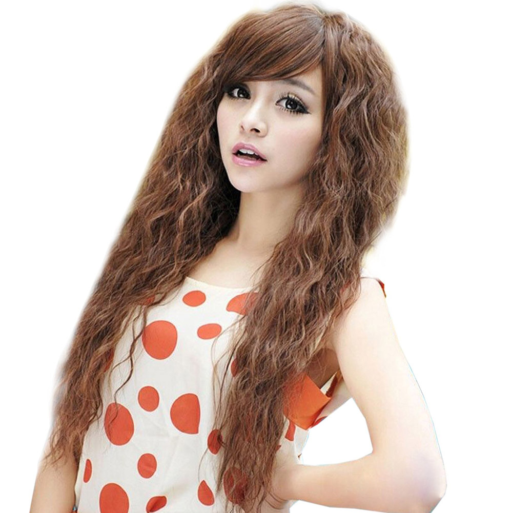 Womens Fashion Sexy long Full Curly Wavy Hair Wigs Cosplay Party Dress  <br><br>Aliexpress