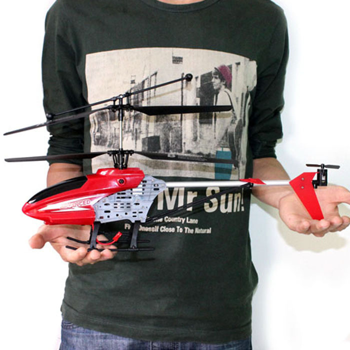 New 2.4GHz 4CH R/C Remote Control RC 45CM LED Gyro Big Helicopter Gifts free shipping(China (Mainland))