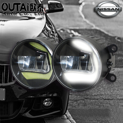 Фотография High Power Highlighted Car Fog lamps lens Fog Light LED daytime running light For Nlssan Sylphy 2pcs