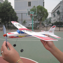 Rubber band powered airplane, glider, assembly, plastic(China (Mainland))