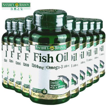 Оптовая США омега-3 рыбий жир 1200 мг 360 мг 300 scftgels (30 scftgels * 10 бутылка) бесплатная доставка