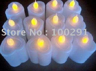 wholesale romantic love shape Button cell operated LED Candle light use in the bar, Christmas Day and other festivals