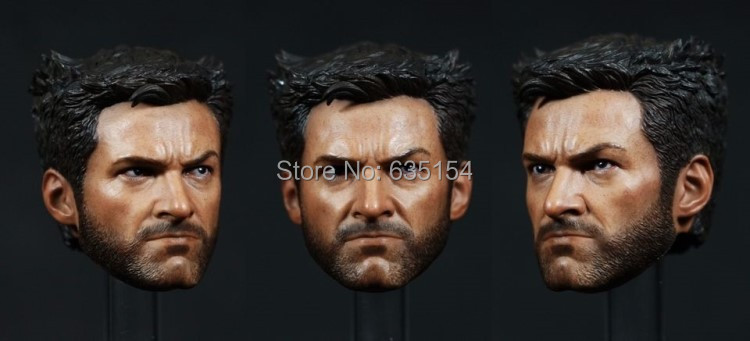 Brand New 1/6 Scale Action Figure Accessories The Wolverine Logan Head Sculpt For 12'' Action Figure Model Toy -Free Shipping(China (Mainland))