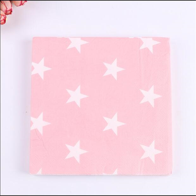20pcs lot star paper napkin table decor festive party - Serviette table tissu ...