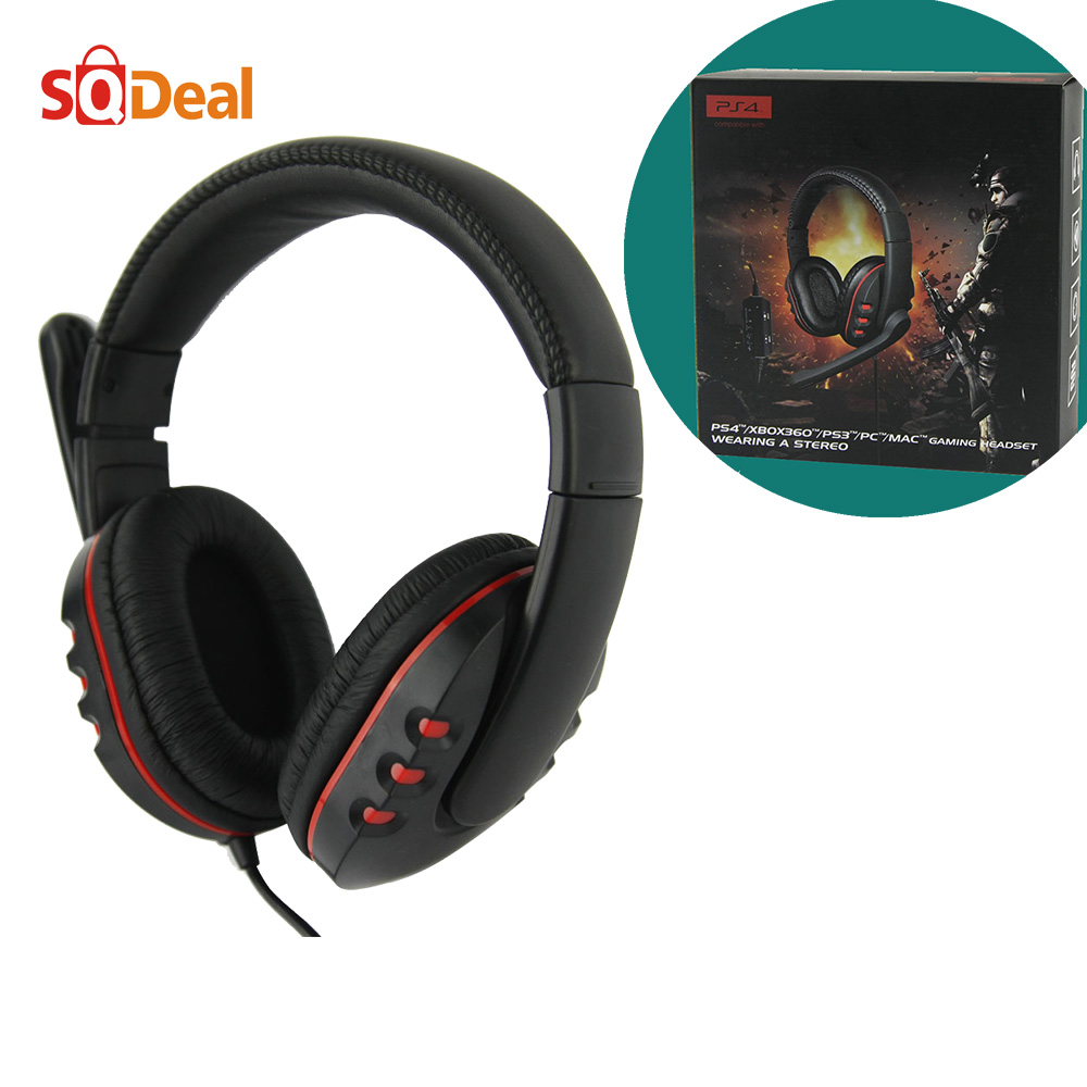 2016 Wired Stereo pc Gaming Headset 180 Degree Rotation Game Headphone with Microphone for PS4/ PS3/ XBOX 360/ PC Computer Game(China (Mainland))