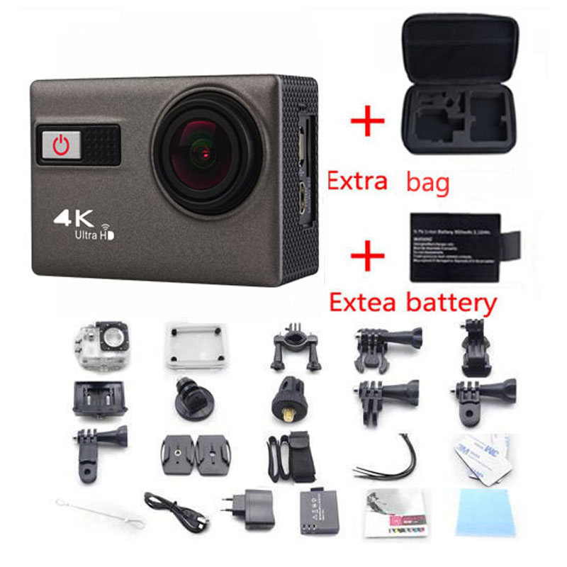 2016 4K F68 Voice Features Camera with Wifi 2 inch Sport Camcorders  Mini Waterproof Sports HD DV+Exter Bag+battery free shiping<br><br>Aliexpress