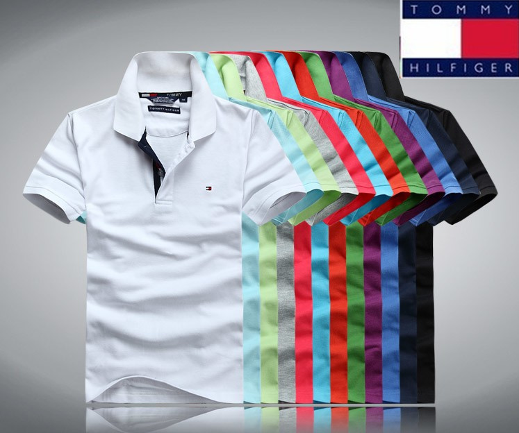 2015 brand tommys Fashion Hilfigerfulliedlys Polo shirt men la short sleeve cost casual t-shirt famous polo free shipping(China (Mainland))