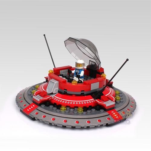 Spaceship Toys For Boys : Building block set enlighten toy diy bricks space