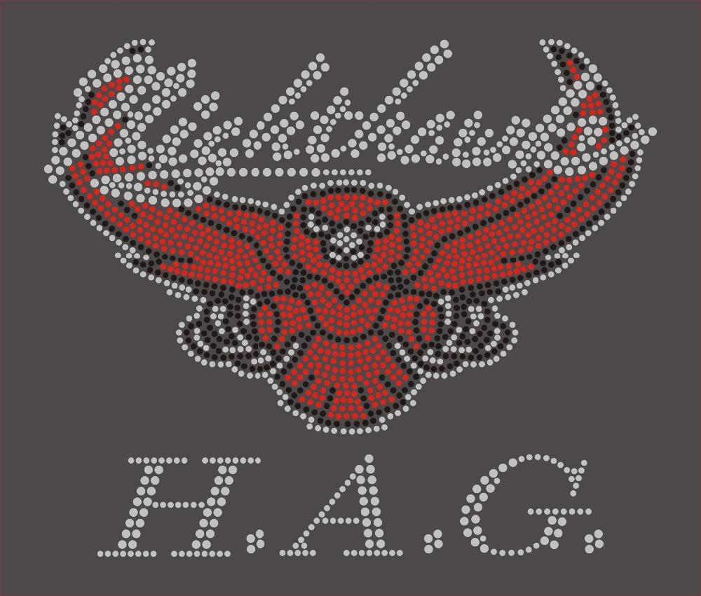 12Pcs/ HAG Hot Fix Iron Stud Transfer T Shirt Custom Designs Wholesale