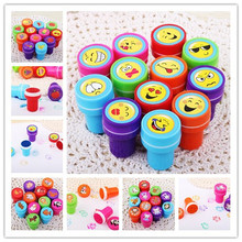 6PCS Self-ink Stamps Kids toy Party Favors Event Supplies for Birthday Gift Boy Girl Goody Bag Pinata Fillers Fun Stationery(China (Mainland))