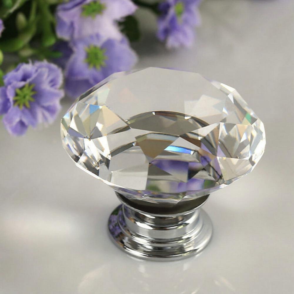 Гаджет  1PC Round Diamond Clear Crystal Glass Door Pull Drawer Knob Handle Cabinet Furniture hot search None Мебель