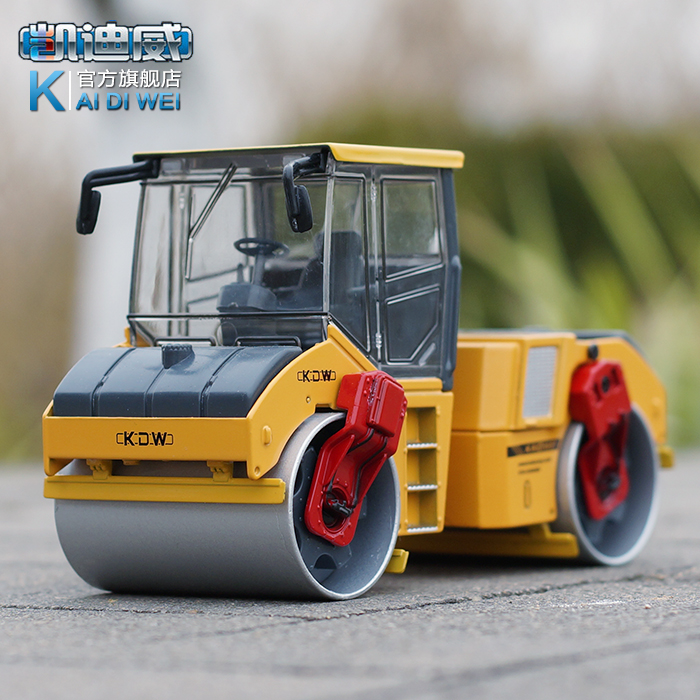 Alloy engineering car model metal two-wheel toy road roller car toy car(China (Mainland))