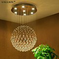 VALLKIN Modern LED Crystal Pendant Lamps Ceiling Chandeliers Fixtures with Multi size Ac 100 to 240v