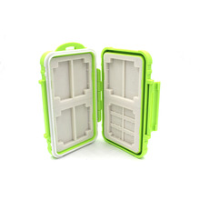 Water-resistant Anti-shock Tough Hard Storage Carry Protector Box Holder Memory Card Case 6 SD Cards + 8 Micro SD TF Cards Green(China (Mainland))