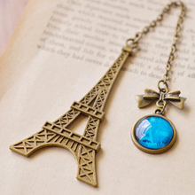 New Vintage Retro Metal Eiffel Tower Bookmarks For Book Creative Item Kids Gift Korean Stationery Free Shipping 747(China (Mainland))