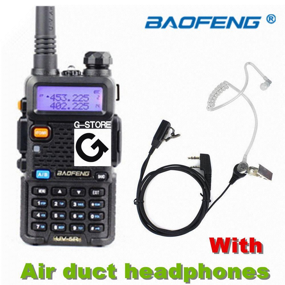 BAOFENG UV-5R Walkie Talkie VHF/UHF Dual Band portable Radio Handheld Tranceiver+ Concealment Air Duct Earpiece(China (Mainland))