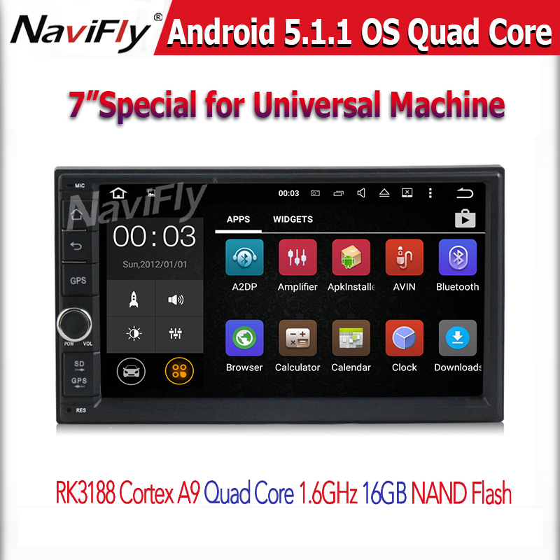 Quad Core android 5.1.1 1.6GHZ CPU Car GPS navigation player for 2 din universal car radio stereo support OBD2 DVR free shipping(China (Mainland))