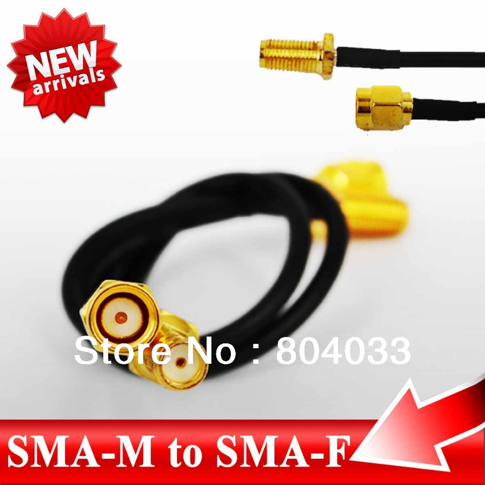 10pcs/lot 17CM RF Adapter SMA male to SMA female Connector Pigtail cable RG316 UHF SMA Connector for Telecom GPS GSM Antenna(China (Mainland))