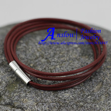 LOW0014LB Free Fast Shipping 2mm Leather  Bracelet and Rope Bangles for Women Or Girls Fashion Man Braclets Unisex Jewelry