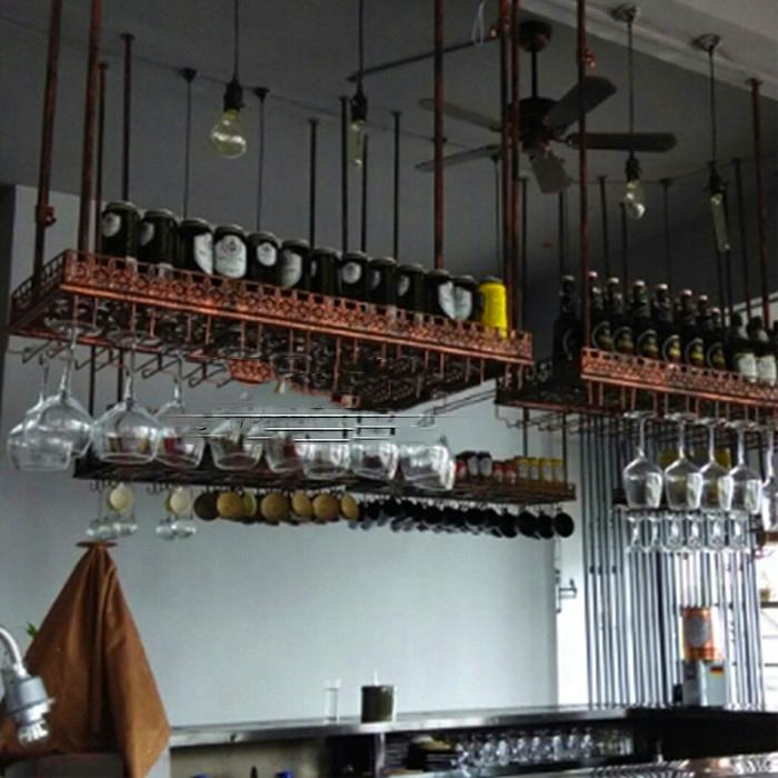 Tag res en verre de vin promotion achetez des tag res en verre de vin promo - Porte verre suspendu bar ...