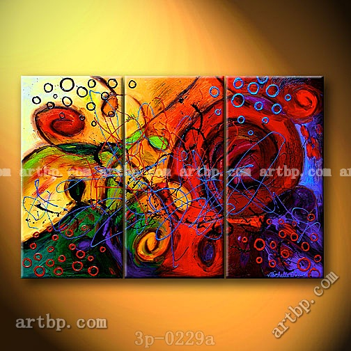 Entwined passions oil painting on canvas abstract nature 3 for Abstract mural painting