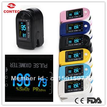 CE FDA CMS50D Fingertip Pulse Oximeter SPO2 Monitor Blood Oxygen Saturation 110pcs per lot