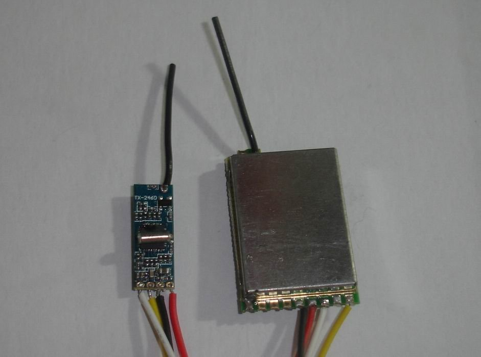 2.4G 100mW tiny wireless transmitter and receiver  2.4Ghz video and audio sender