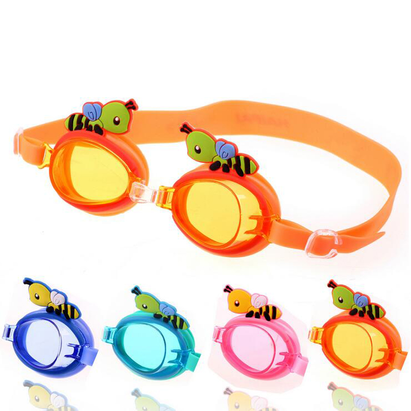Cartoon Bees Children Kids Waterproof Anti Fog UV Protection Swim Pool Swimming Silicone Goggles Glasses Eyewear Accessories(China (Mainland))