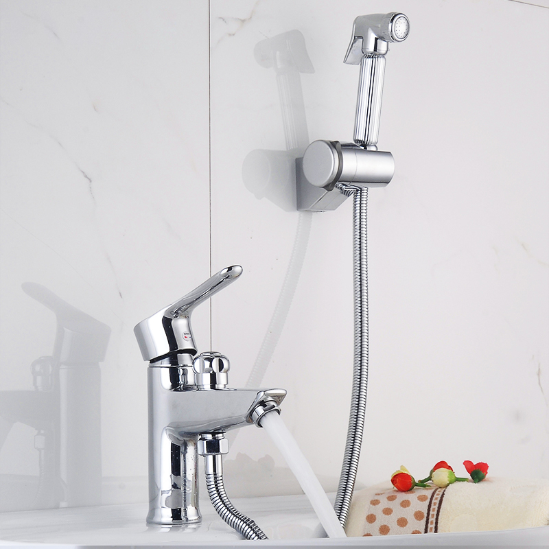 Luxury bathroom vessel sink faucet with wall bidet sprayer - Bathroom sink faucet with sprayer ...