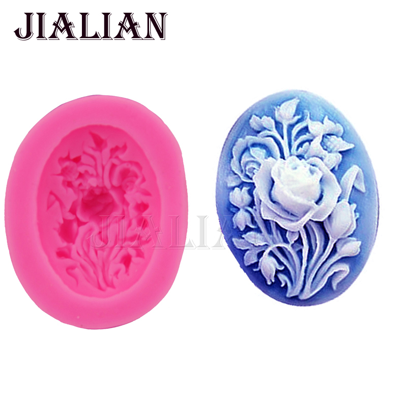 3D Rose Flower Silicone Mold handmade soap mould Fondant Cake Decorating Sugarcraft Baking Tools cupcake molds T0802(China (Mainland))