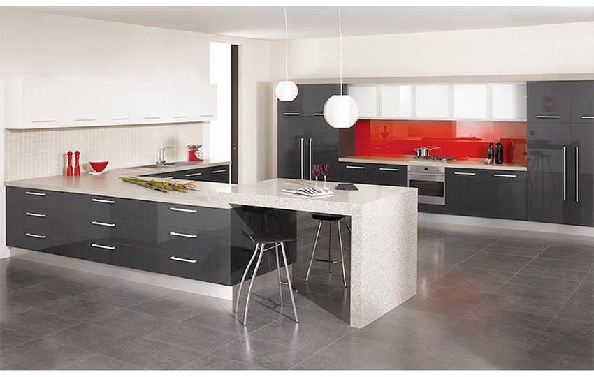 Grey Kitchen Cabinet Doors] Pictures Kitchens Modern White Kitchen ...