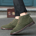 Brand Autumn Winter High Quality Men Shoes Boots Casual Fashion Warm British Bullock High Cut Lace