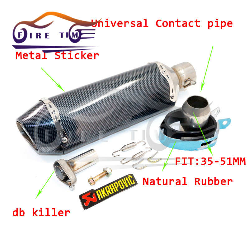 Motorcycle Modified Exhaust Scooter Muffler Akrapovic Exhaust For KAWASAKI KX125 2000 2001 2002 2004 2005  <br><br>Aliexpress
