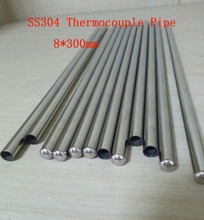 8*300mm SS304 One End Closed Stainless Steel Pipes Thermowell Thermocouple Tube 20 pcs / lot(China (Mainland))