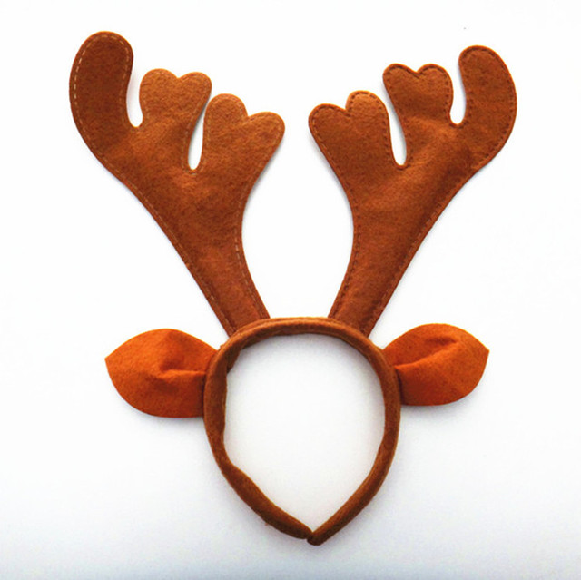 New Christmas decoration Brown party supplies Reindeer Antler Santa Hat Christmas hat hoop free shipping