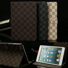 Business style For ipad mini case Plaid Design Folio PU Leather e-book cases For ipad Mini 1 2 3 Tablet Accessories SY4A59