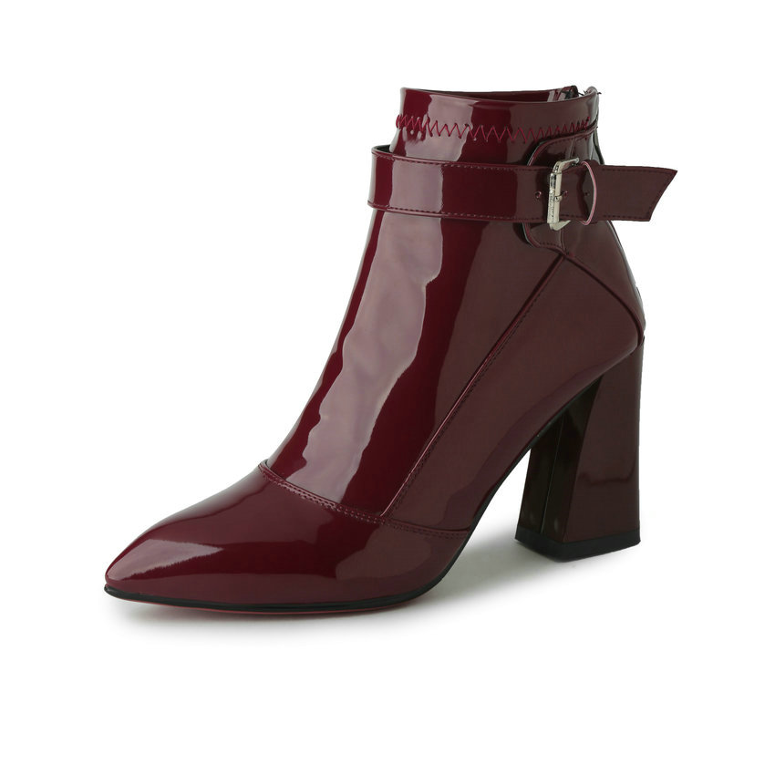 Women S Burgundy Patent Leather Shoes