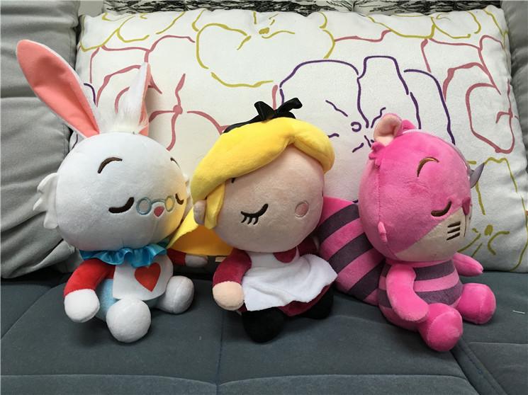 -2016-HOT-3PCS-SET-Alice-In-Wonderland-2-Alice-Cheshire-Cat-White-Rabbit-Stuffed-Plush (1)