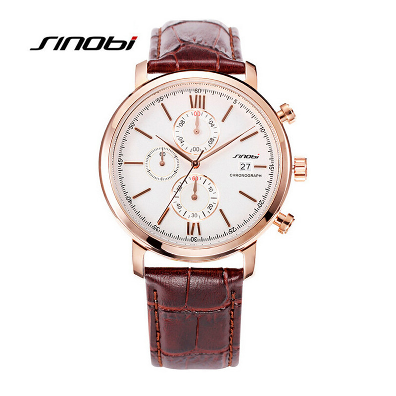 2016 Brand SINOBI Watches Men Casual Quartz Reloj Leather Wristwatch Army Military Hombre MenS Clock Relogio Masculino AA170<br><br>Aliexpress