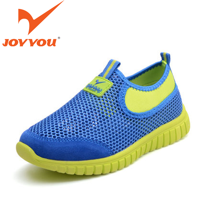 JOYYOU Brand Child Casual Shoes Suede Leather + Air Mesh Kids Shoes Big Boys Girls Slip-On Flats Kids Breathable Shoes Chaussure(China (Mainland))