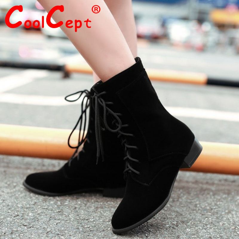 CooLcept Free shipping ankle half short boots women snow fashion winter warm boot footwear high heel shoes P15311 EUR size 34-39<br><br>Aliexpress