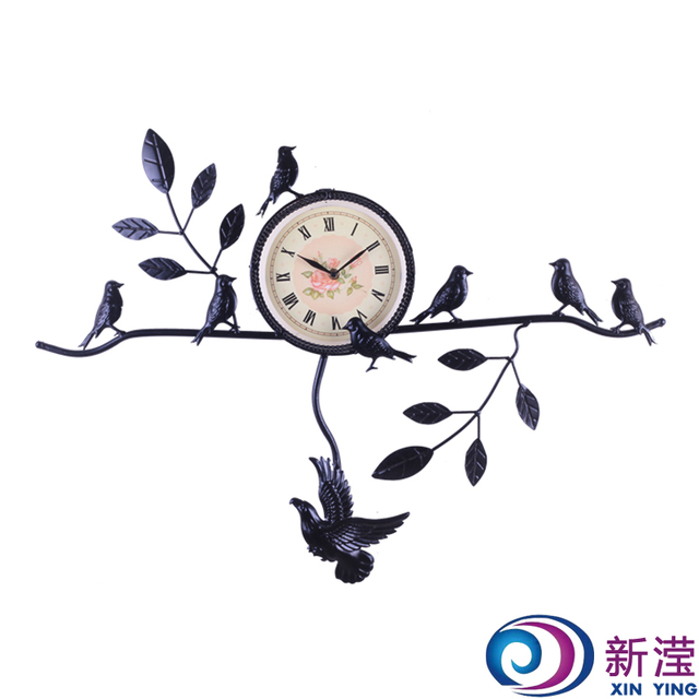 Fashion indoor decoration wall flowers yack wall clock