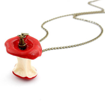Fashion individuality temperament sweet cute Christmas Gift Red/Green Apple Antique metal Long Necklace&Pendants  A174