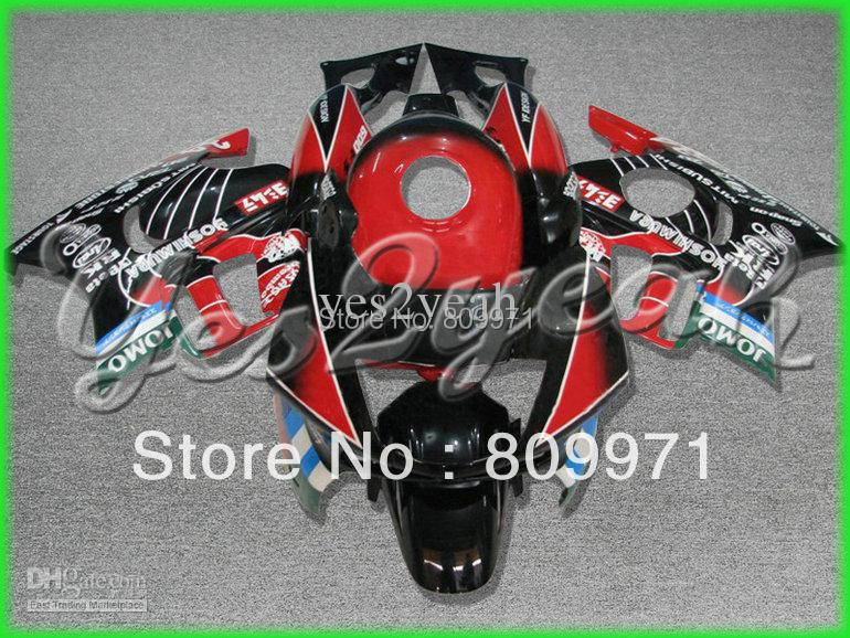 H168 ABS Red Black Fairing for HONDA CBR600F3 97 98 CBR600 F3 1997 1998 CBR600-F3 97-98 CBR 600F3(China (Mainland))