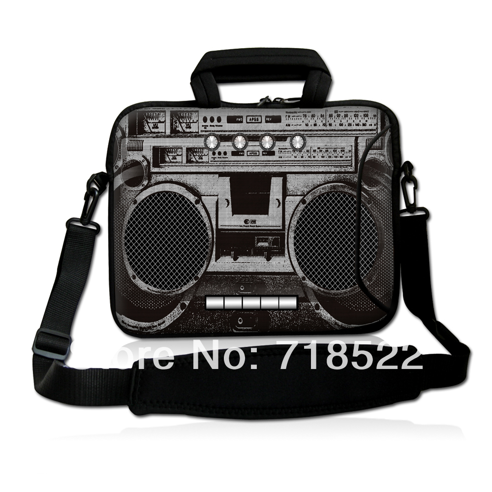 "13 inch Cassette Tape Laptop Bag Carry Case Sleeve Shoulder Strap Fit 13.3"" Notebook, 50pcs(China (Mainland))"